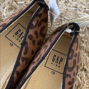 GAP Shoes - Girls' GAP Cat Face / Leopard Print Flats - Sz 13
